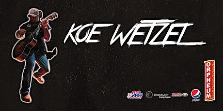 *** NEW DATE! *** Koe Wetzel tickets