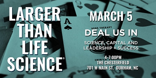 LARGER THAN LIFE SCIENCE | Deal  Us In