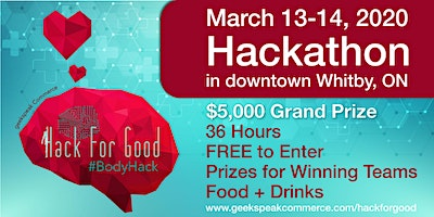 Hack For Good 2020 - Body Hack Hackathon - Limited Tickets Available