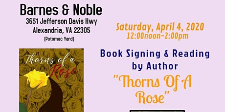 "Author's Book Signing/Reading-""Thorns Of A Rose"" tickets"