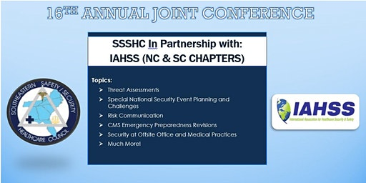 16th Annual Joint Conference SSSHC In partnership with IAHSS NC/SC Chapters