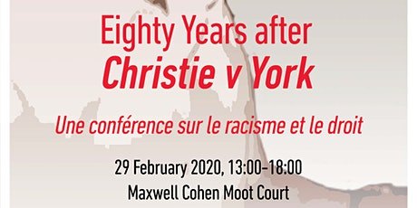 Black History Month 2020: Commemorating Christie v. York, 80 Years On tickets