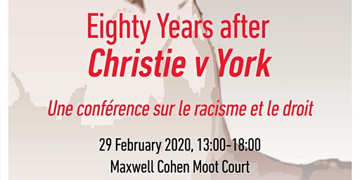 Black History Month 2020: Commemorating Christie v. York, 80 Years On