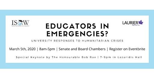 Educators in Emergencies? University Responses to Humanitarian Crises