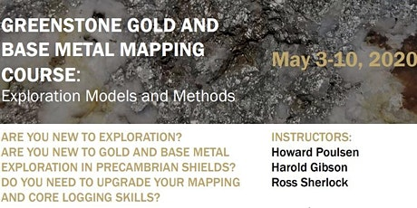 Greenstone Gold & Base Metal Mapping Course tickets