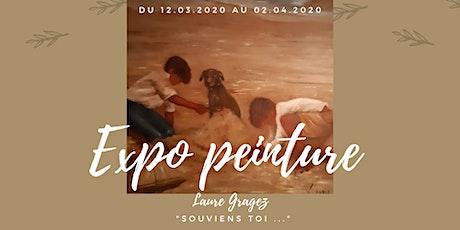 """Vernissage expo peinture """"Souviens-toi"""" billets"""