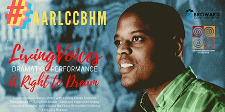 #AARLCCBHM: Living Voices Dramatic Performance tickets