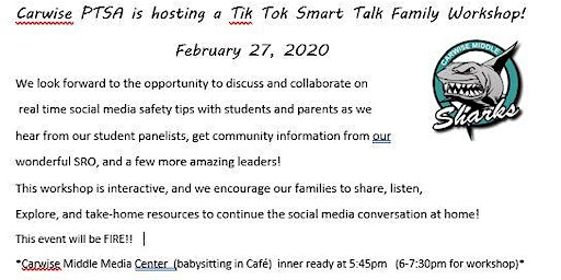 Tik Tok Smart Talk Family Workshop