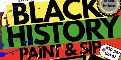 Black History Paint and Sip tickets