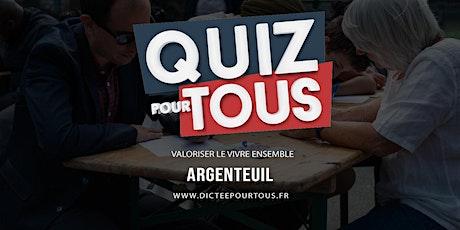 Le quiz pour tous à Argenteuil billets