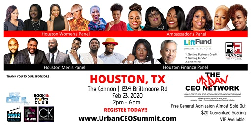 Urban CEO Summit [Houston TX] (Free Food & Plenty of Parking)