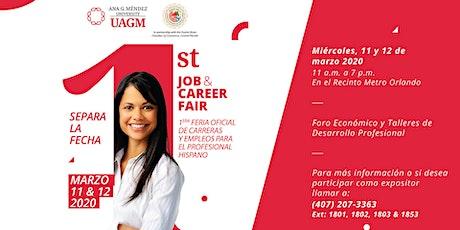 UAGM Orlando Campus, 1st Job & Career Fair for Hispanic Professionals entradas