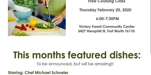 Free Cooking Class with Chef Schueler
