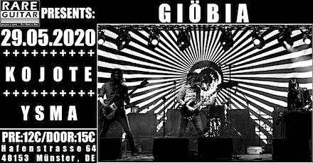 Giöbia / Kojote / Ysma Tickets