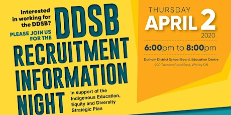 Durham District School Board Recruitment Information Night tickets
