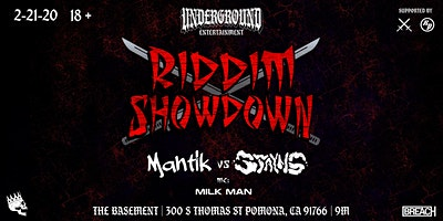 RIDDIM SHOWDOWN  - Mantik VS Stayns