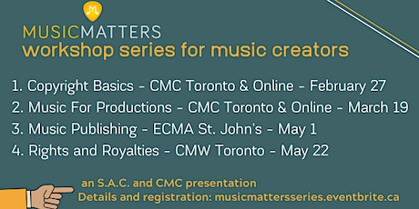 Music Matters Workshop Series for Music Creators tickets