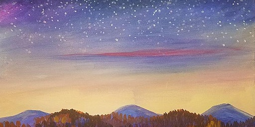 Starry Horizon Paint and Sip