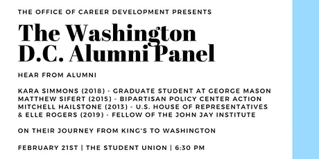 Washington D.C. Alumni Panel tickets