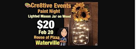 $20 Lighted Mason Jar String Art on Wood tickets