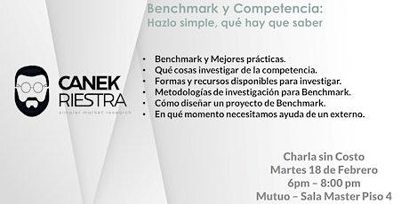Benchmark - Investiga a tu Competencia: Charla sin costo entradas