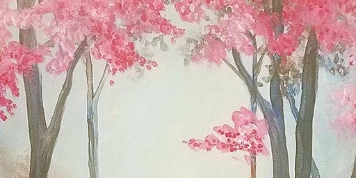 Cherry Blossoms Paint and Sip