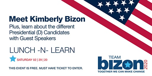 FREE LUNCH -N- LEARN with Candidate, Kimberly Bizon