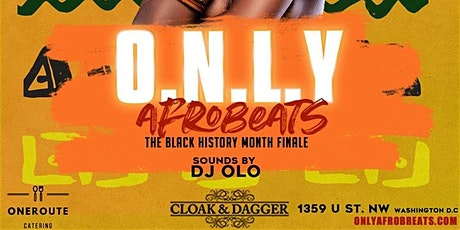 Only Afrobeats! Free Happy Hour | $5 Shots, $8 Drinks tickets