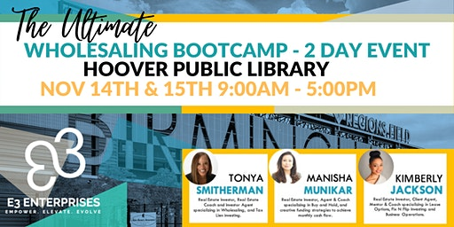 The Ultimate Wholesale Bootcamp - 2 Day Event