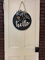 Front Door Sign Workshop
