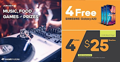 Come Party With Boost Mobile - Live DJ