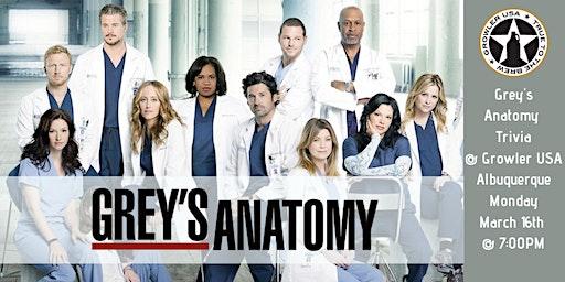 Grey's Anatomy Trivia at Growler USA Albuquerque