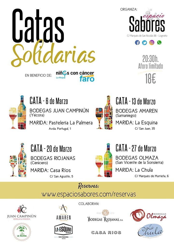 Imagen de Catas Solidarias - 27 de Marzo