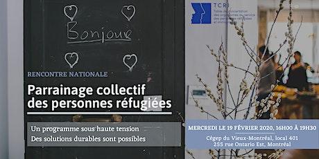 Le programme québécois de parrainage collectif des réfugié.e.s billets