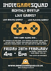 Indie Game Squad Monthly Meetup Episode: 2 tickets