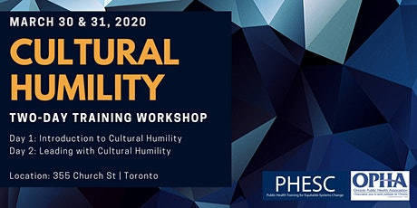 Introduction to Cultural Humility & Leading with Cultural Humility Workshops tickets
