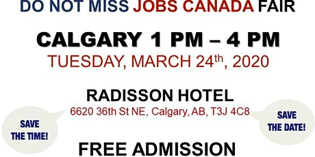 Calgary Job fair - March 24th, 2020 tickets