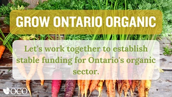 Grow Ontario Organic: A Check-Off with Choice (Eco-Farm Day Session)