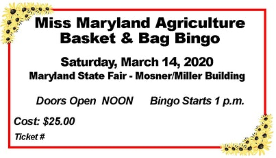 Miss MD Agriculture Bingo Fundraiser tickets