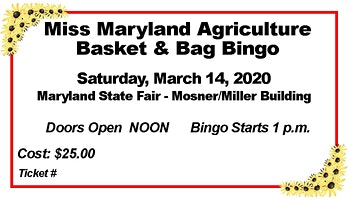 Miss MD Agriculture Bingo Fundraiser