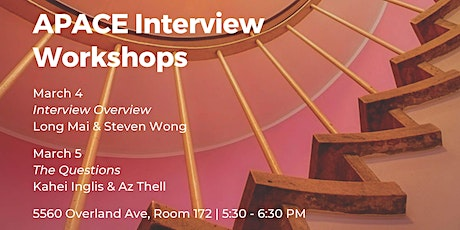 APACE Interview Workshops: Interview Overview tickets