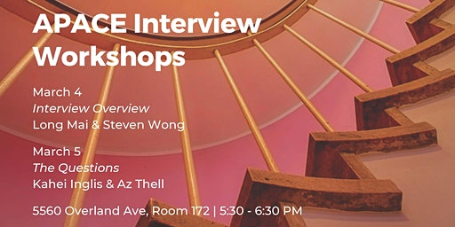 APACE Interview Workshops: Interview Overview