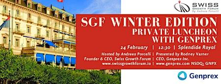 SGF Winter Edition 2020 Luncheon with Genprex in Lugano.