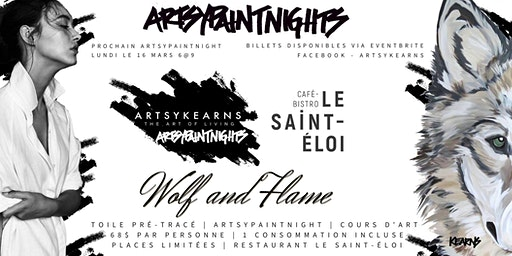 ArtsyPaintNight  16 Mars | Restaurant Le Saint-Éloi