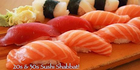 20s & 30s Sushi Shabbat 2020 tickets