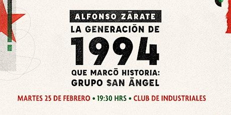 Presentación del libro de Alfonso Zárate boletos