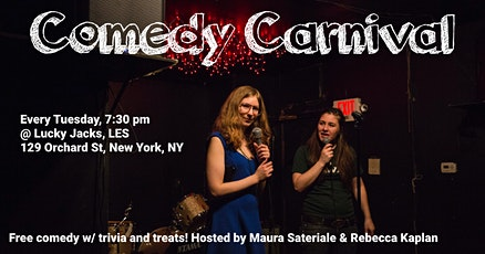 Comedy Carnival Tuesdays at Lucky Jacks tickets