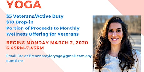 All Levels Yoga for Veteran's Wellness tickets