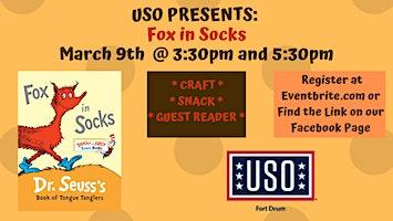 """USO Story Time """"Fox in Socks"""""""