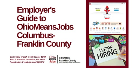 Employers Guide to OhioMeansJobs Columbus-Franklin County - March tickets